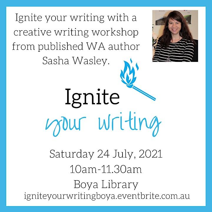 Ignite Your Writing Workshop with Author Sasha Wasley image