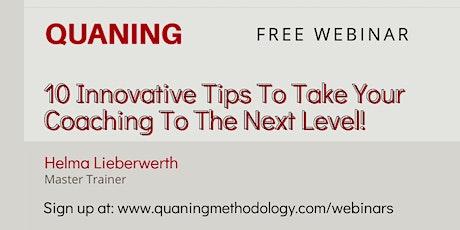 Next level coaching: 10 tips om je effectiviteit als coach te vergroten. tickets