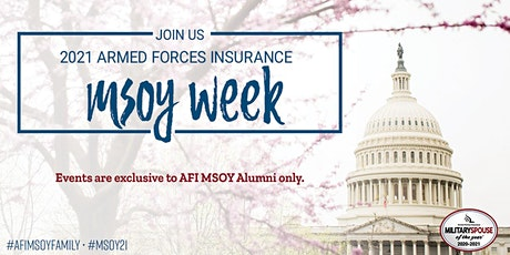 Armed Forces Insurance Military Spouse of the Year® 2021 (AFI MSOY) Week tickets