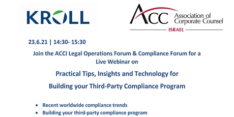 Legal Ops & Compliance Forums: Practical tips for  3rd party compliance tickets
