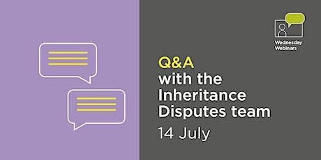 Live Q&A with Birkett Long's Inheritance Disputes team tickets