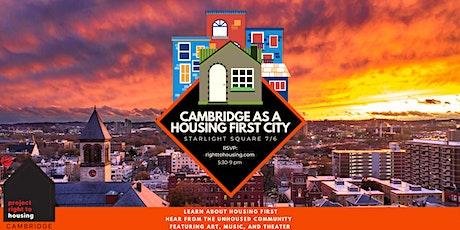 Cambridge As A Housing First City tickets