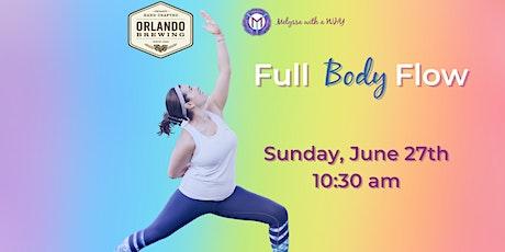 PRIDE Full Body Flow - Orlando Brewing Sunday B-RUN-ch tickets