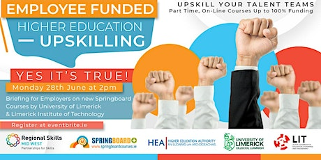 Springboard+ Funded Courses Mid-West Employer Briefing tickets
