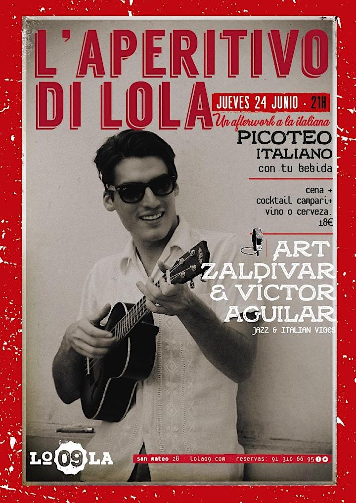 Imagen de L'Aperitivo di Lola - Art Zaldívar, jazz & italian vibes en directo