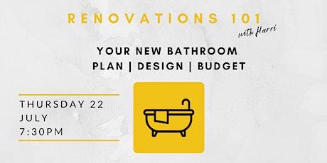 Design & Plan your New Bathroom tickets