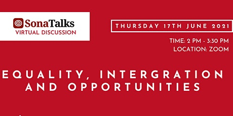 SonaTalks Virtual Discussion: Equality, Integration and Opportunities tickets