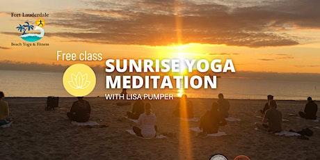 Free Sunrise Oceanfront Yoga Meditation on Ft Lauderdale Beach tickets