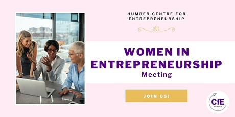 Women in Entrepreneurship Community Meeting tickets