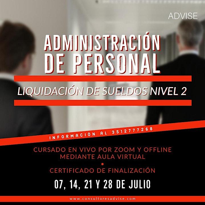 Imagen de Administración de personal  - Liquidación de sueldos nivel 02