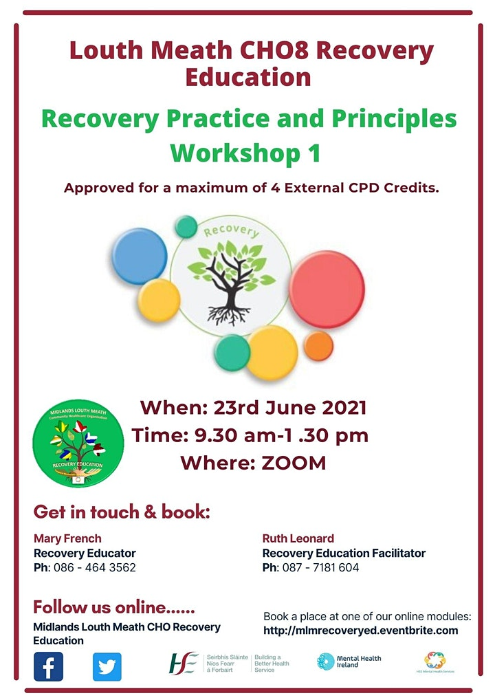 Louth Meath Recovery Practice and Principles Workshop 1 image