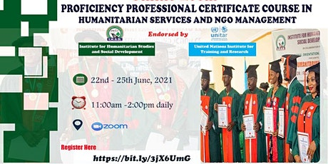 ONLINE PROFICIENCY PROFESSIONAL CERTIFICATE COURSE IN HUMANITARIAN SERVICES tickets