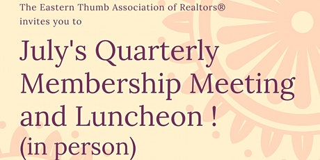 July General Membership Luncheon tickets