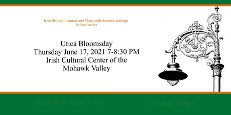 Utica Bloomsday Event - 2021 tickets