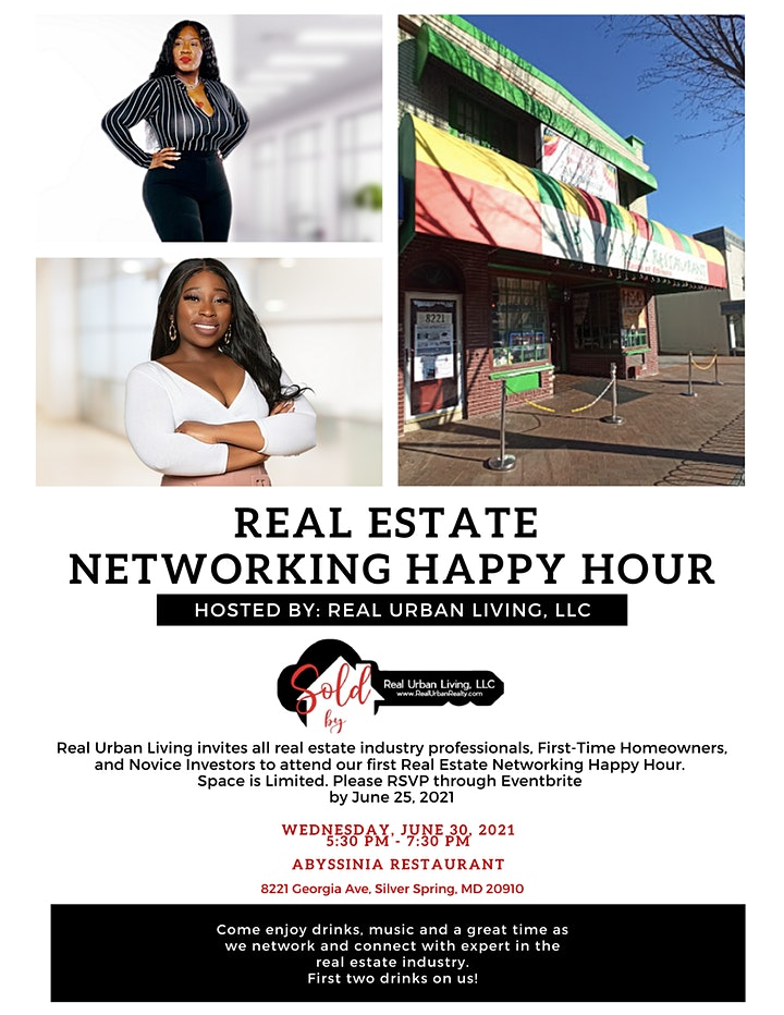 Real Estate Social Networking Happy Hour HOSTED BY Real Urban Living Realty image