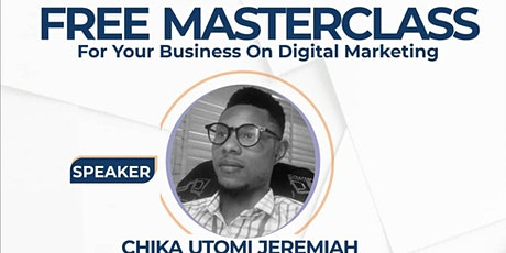 Free MasterClass on Digital Marketing For Your Business biglietti