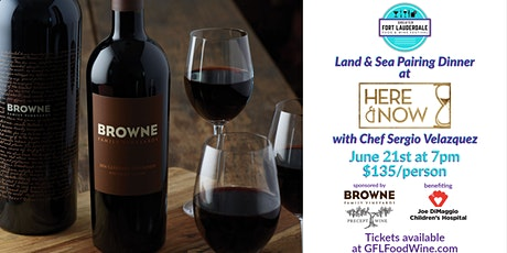 Land & Sea Pairing Dinner with Chef Sergio Velazquez at Here & Now tickets