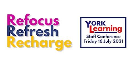 Refocus - Refresh - Recharge tickets