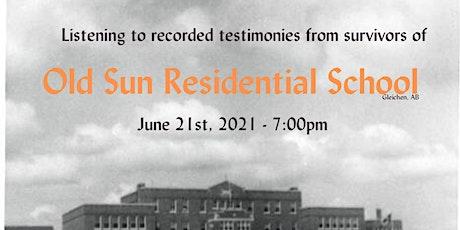 Old Sun: Listening to Survivor's Testimony from Old Sun Residential School tickets