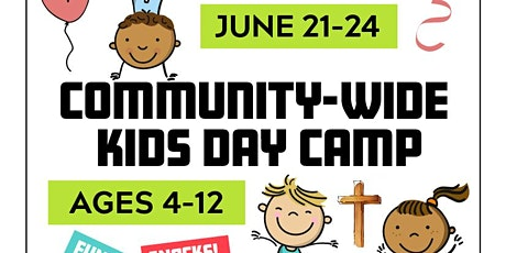 Community-Wide Kids Day Camp (FL City) (8:30-11:30a) June 21-24 tickets