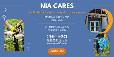 Nia Cares: A Day of  Chicago Commons Community Service tickets