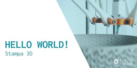 Hello World! Corso pratico base di Stampa 3D biglietti