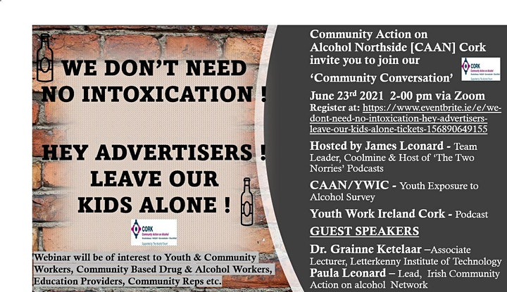 We Don't Need No Intoxication ! Hey Advertisers ! Leave Our Kids Alone ! image