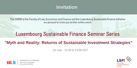 Myth and Reality: Returns of Sustainable Investment Strategies tickets