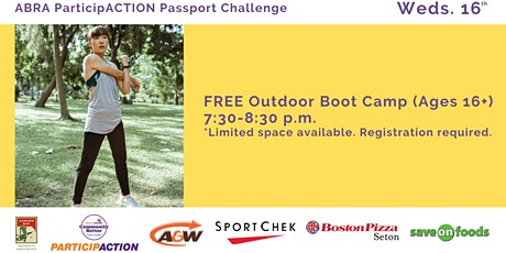 ABRA ParticipACTION Passport Challenge FREE Outdoor Boot Camp (Ages 16+) tickets