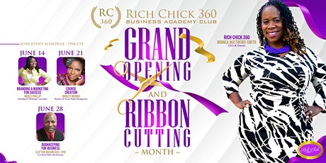 Rich Chick 360 Business Academy June Events tickets