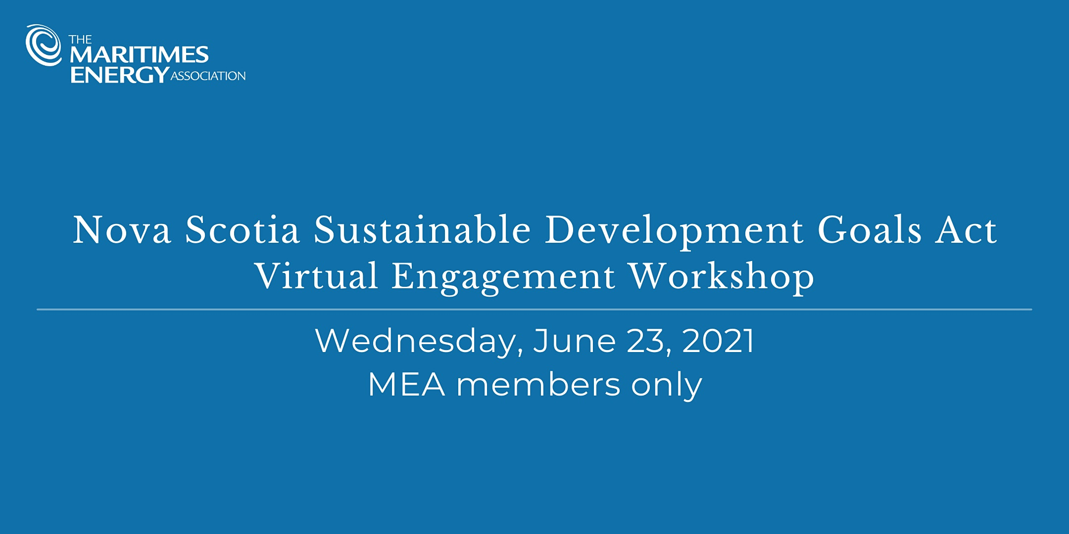 MEA Sustainable Development Goals Act Workshop