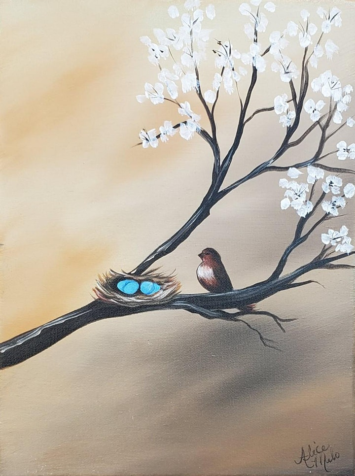 """""""Robin's Nest"""" Virtual Painting Workshop with Alice Melo image"""
