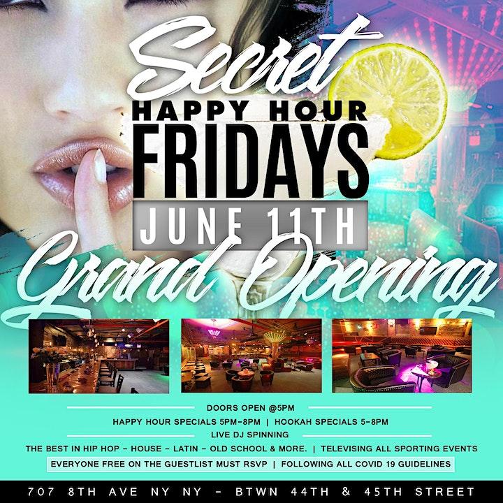 Secret Happy Hour Fridays image