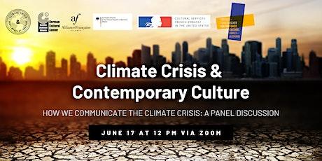 Climate Crisis & Contemporary Culture Kick-Off tickets
