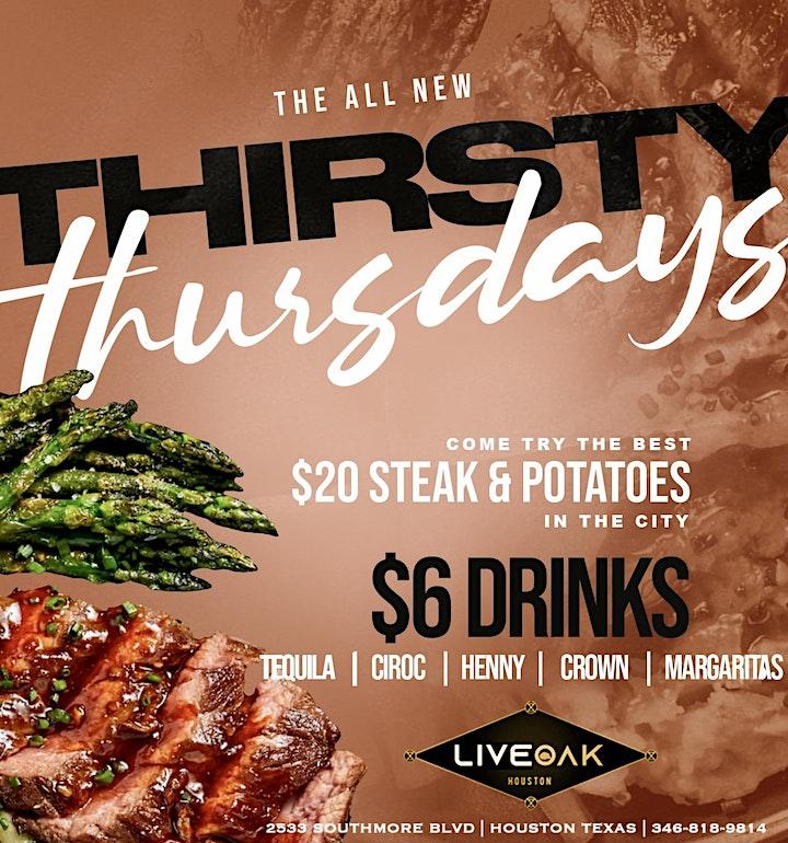 Thirsty Thursday's + Steak Night! image