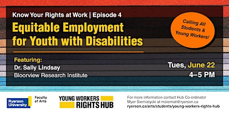 Equitable Employment for Youth with Disabilities tickets