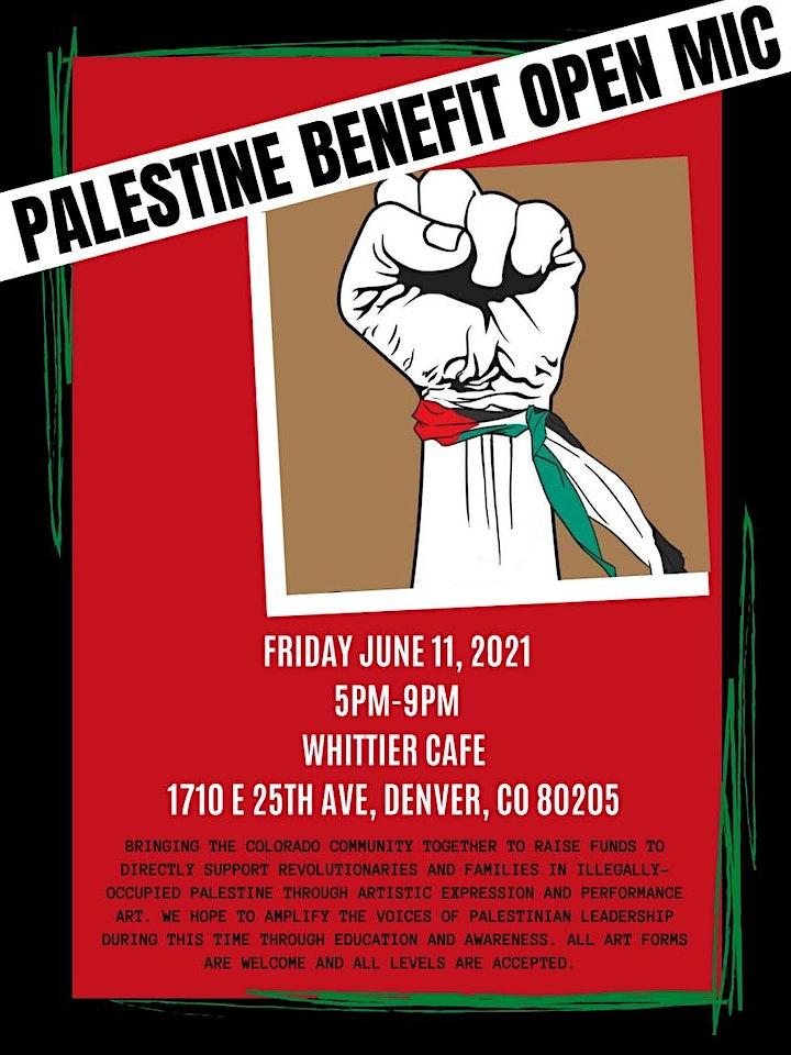 Palestine Open Mic Benefit image