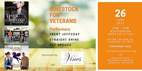 Vinestock for Veterans tickets