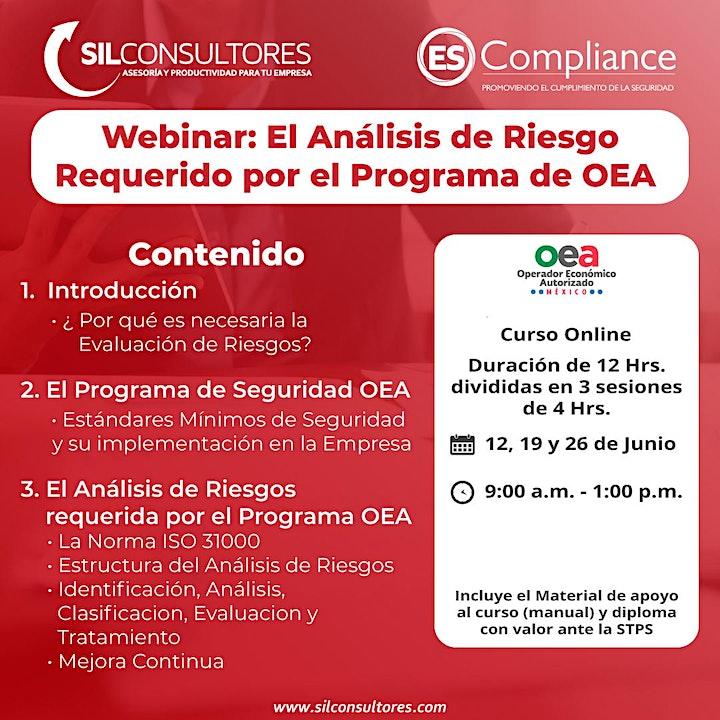 Imagen de WEBINAR: El Análisis de Riesgo requerido por el Programa de OEA