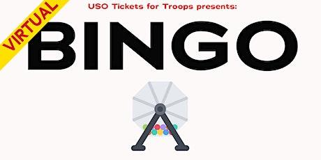 USO Tickets for Troops: BINGO tickets