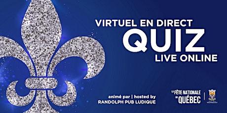 Quiz virtuel en direct | Live Online Quiz : Fête nationale du Québec tickets