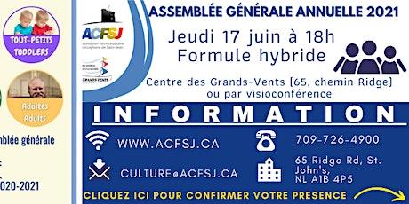 Assemblée générale annuelle 2021 tickets