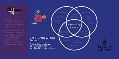 CKHF Grant Writing Series:  Critical Approaches to Operating Grants tickets