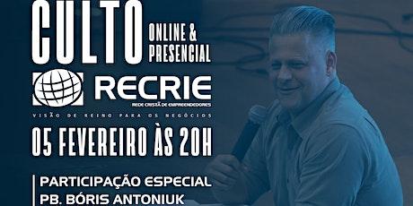 CULTO RECRIE TABOÃO DA SERRA ingressos