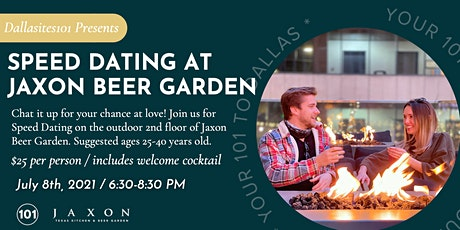 Speed Dating at Jaxon Beer Garden tickets
