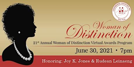 21st Annual Woman of Distinction Virtual Awards Program tickets