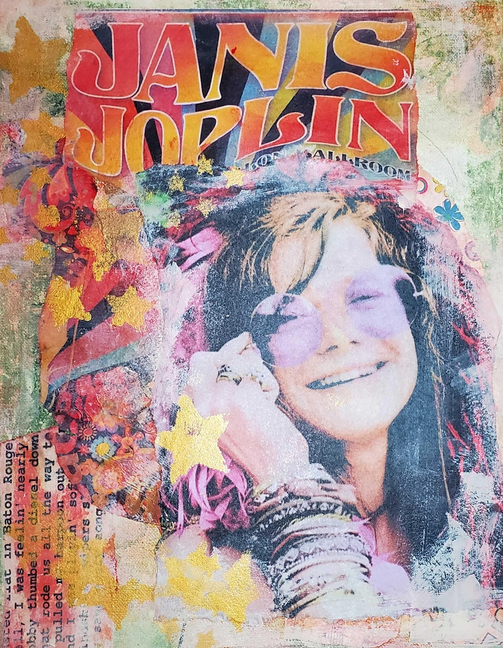 Janis Joplin Mixed-Media Collage image