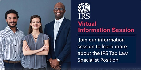 IRS Virtual Information Session on Tax Law Specialist Positions tickets