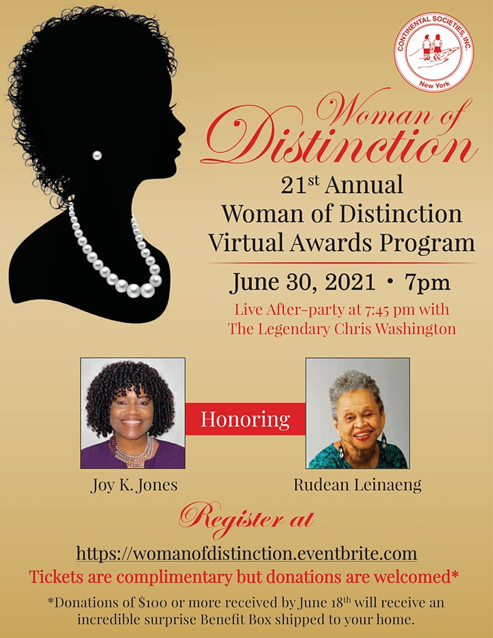 21st Annual Woman of Distinction Virtual Awards Program image