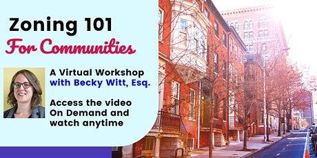 Zoning 101 for Communities: Video On Demand tickets